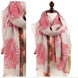 NEW ROSE PRINT SCARF